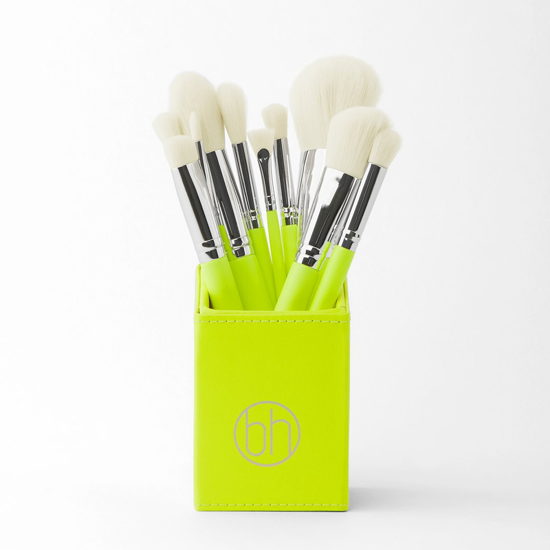 Bộ cọ BH Cosmetics Color Festival 12 Piece Brush Set With Angled Brush Holder