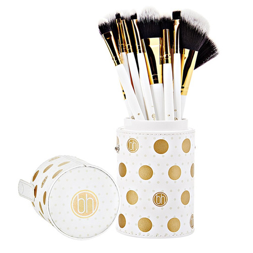 BH Dot Collection 11 Piece Brush Sets White