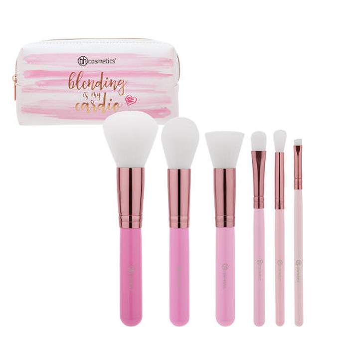 Cọ bh cosmetics Mini Pink Perfection Brush Set 6 pieces
