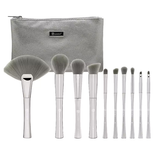 Smoken Mirrors 10 Piece Metalized Brush Set with Bag