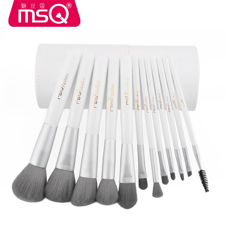 Bộ cọ trang điểm chuyên nghiệp 12 cây MSQ 12pcs Charcoal Fibre Brushes Set
